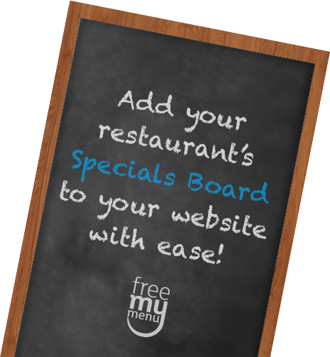 Add your restaurant's Specials Board to your existing website with ease!